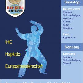 Einladung zu den 13. IHC Hapkido Europameisterschaften