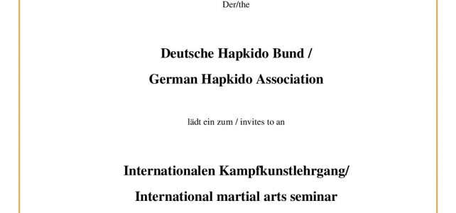 Internationaler Kampfkunstlehrgang
